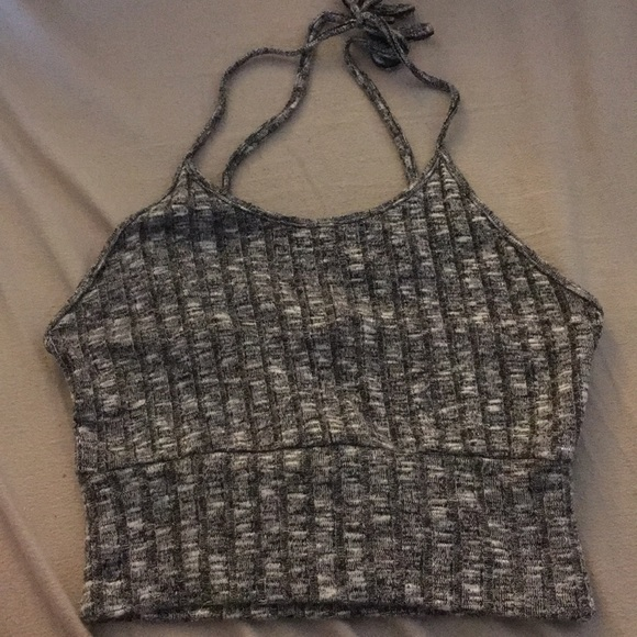 Forever 21 Tops | Heather Grey Knit Halter Top | Poshmark